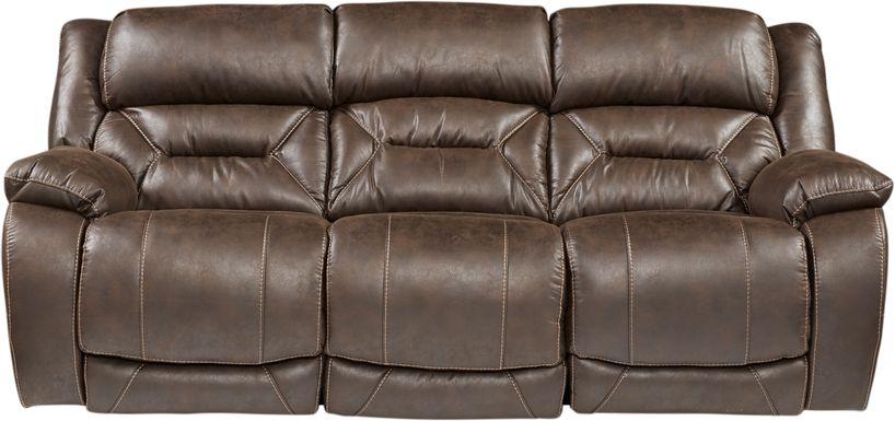 Griffin Valley Walnut Triple Power Reclining Sofa