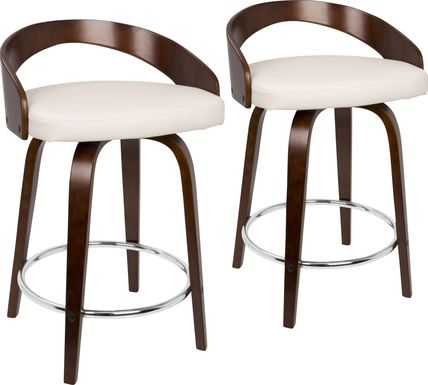 Grotto Cherry Counter Height Stool (Set of 2)