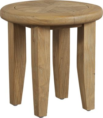 Hagen Tan Teak Outdoor Side Table