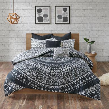 Haisley Black 7 Pc King Comforter Set