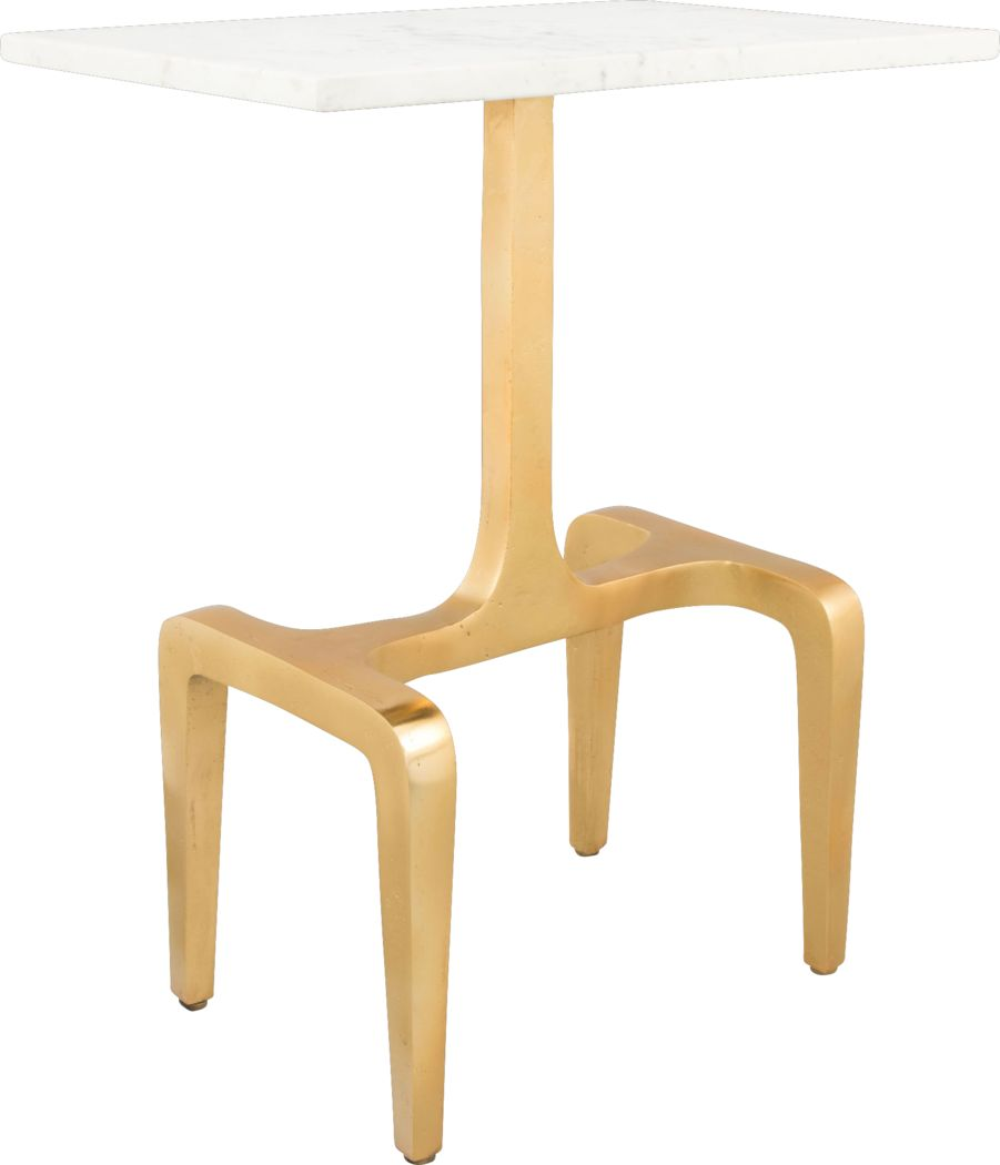 Halbert White Accent Table