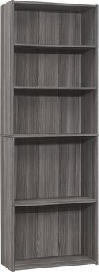Hallbrook Gray Bookcase