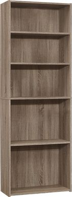 Hallbrook Taupe Bookcase