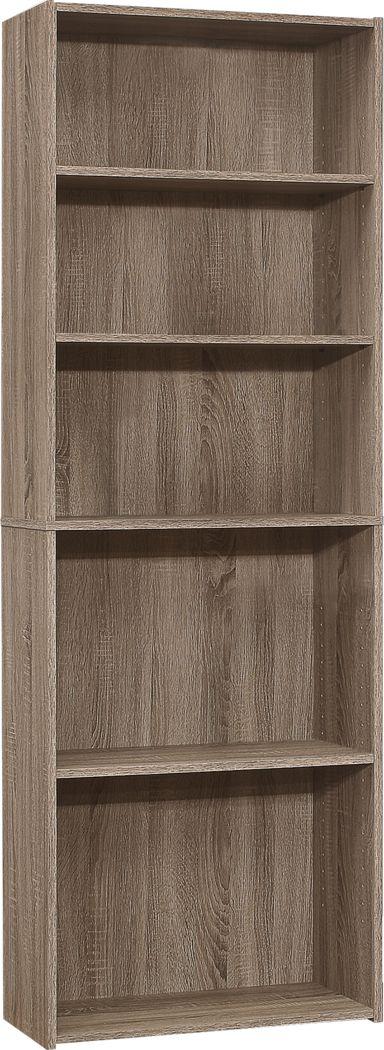 Hallbrook Taupe Bookcase