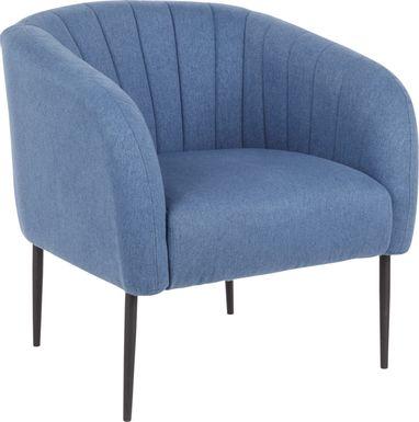Halliard Blue Accent Chair