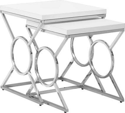 Hallstone White Set of 2 Nesting Tables