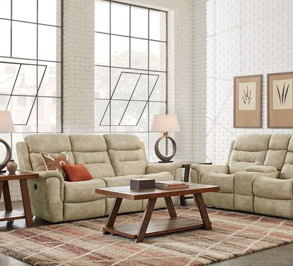 Halton Hills Sand 3 Pc Reclining Living Room
