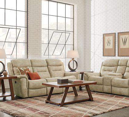 Halton Hills Sand 5 Pc Power Reclining Living Room