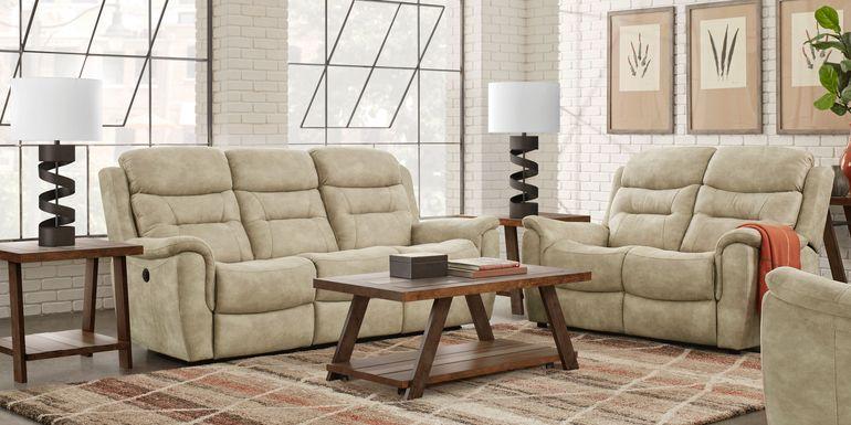Halton Hills Sand 7 Pc Living Room with Reclining Sofa