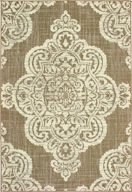 Hamiller Tan 6'7 x 9'6 Indoor/Outdoor Rug