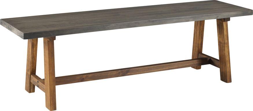 Hammerwill Gray Dining Bench