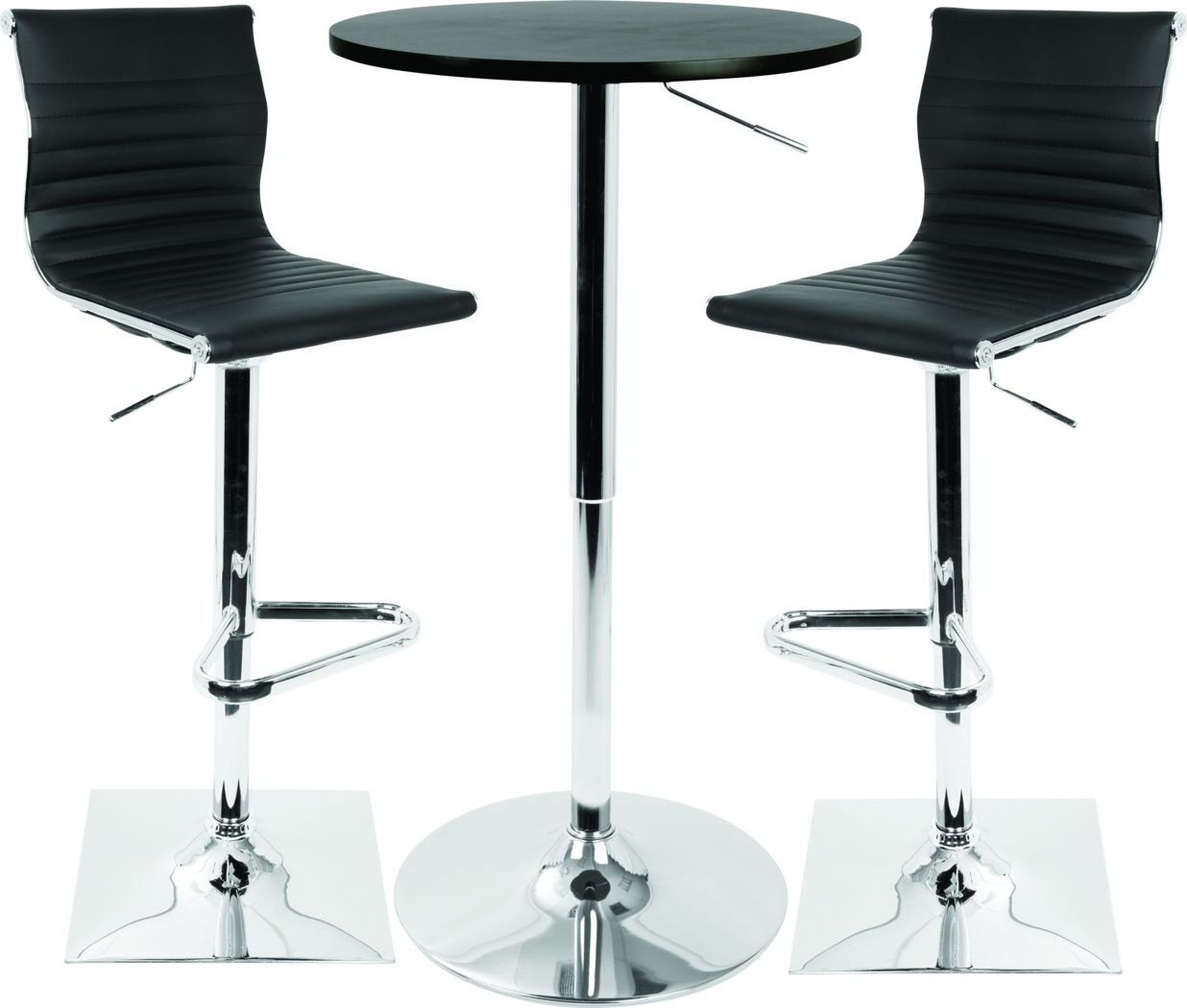 Hampden Black 3 Pc Bar Height Dining Set