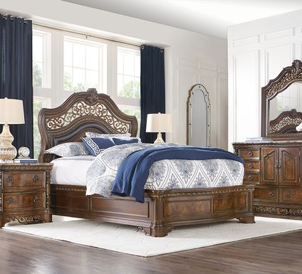 Handly Manor Pecan 5 Pc King Panel Bedroom