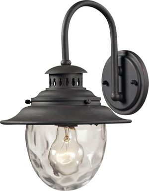 Harbor Cove Black Outdoor Wall Sconce