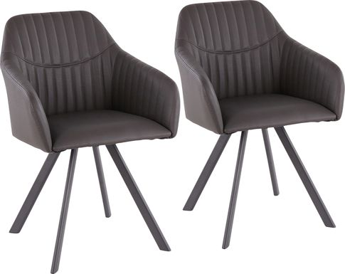 Hardwyck Charcoal Accent Chair, Set of 2