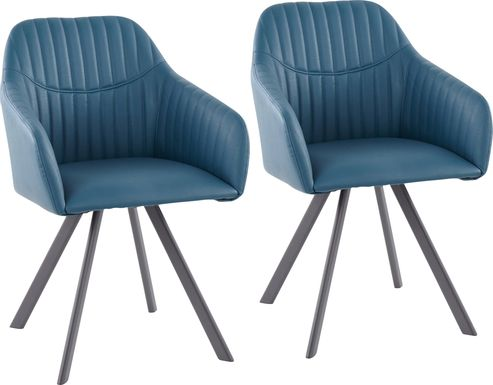 Hardwyck Teal Accent Chair, Set of 2