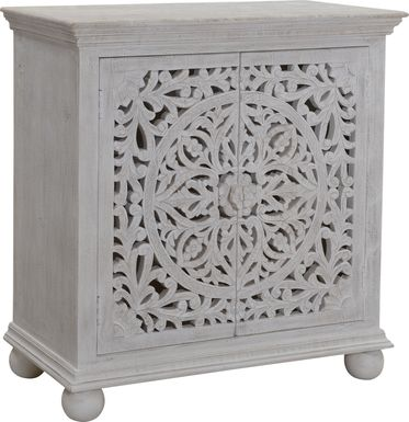 Hardwyck White Accent Cabinet