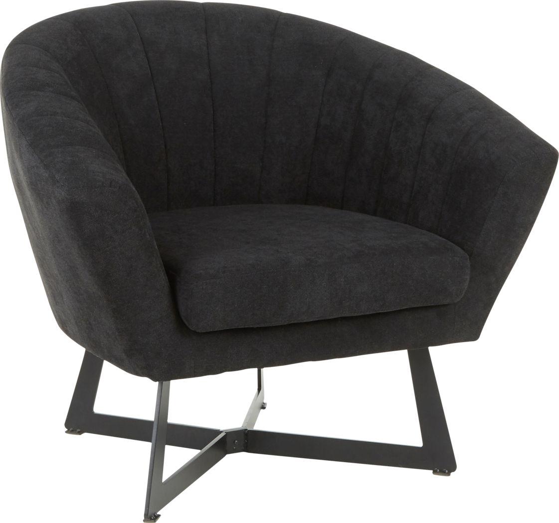 Haririck Black Accent Chair