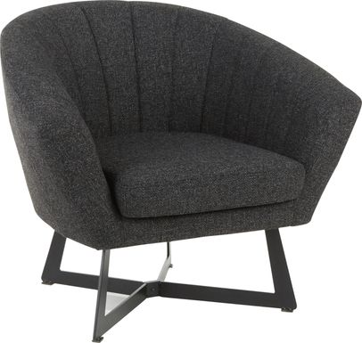 Haririck Charcoal Accent Chair