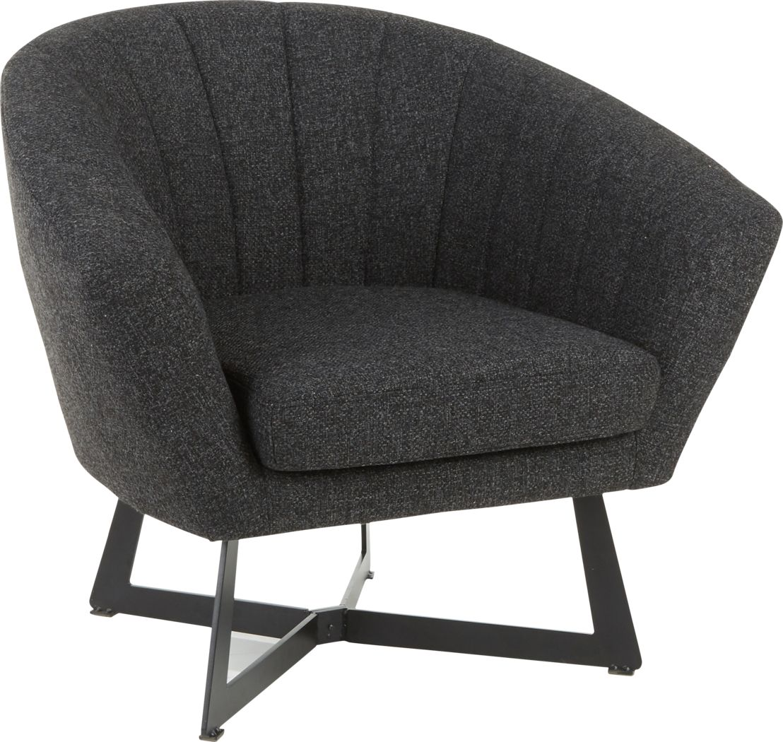 Haririck Charcoal Accent Chair
