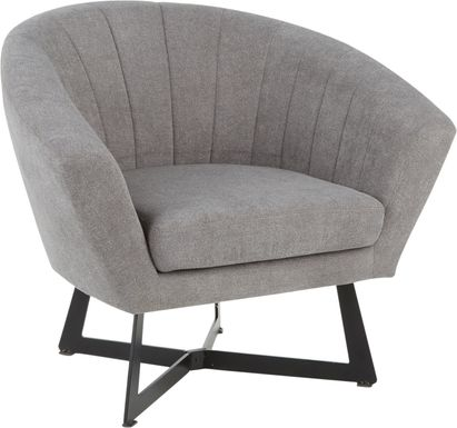 Haririck Gray Accent Chair