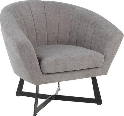 Haririck Gray Accent Chair