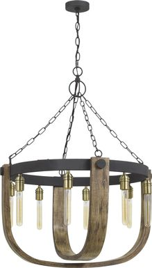 Harlingen Circle Oak Chandelier