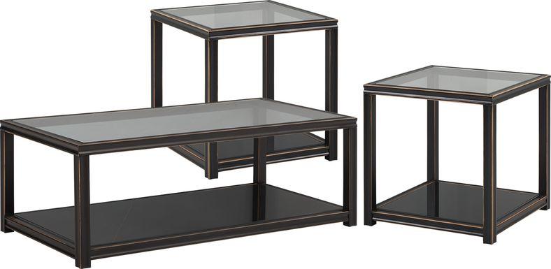 Harperdale Black 3 Pc Table Set
