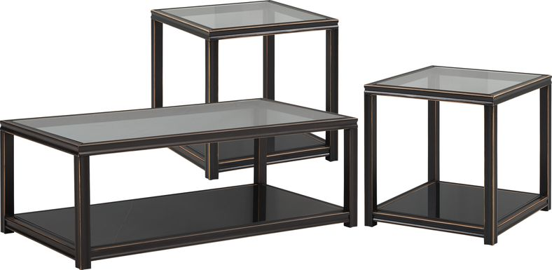 Harperdale Black 3 Pc Table Set