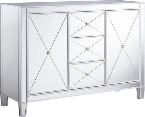 Harrisglen Silver Large Accent Cabinet