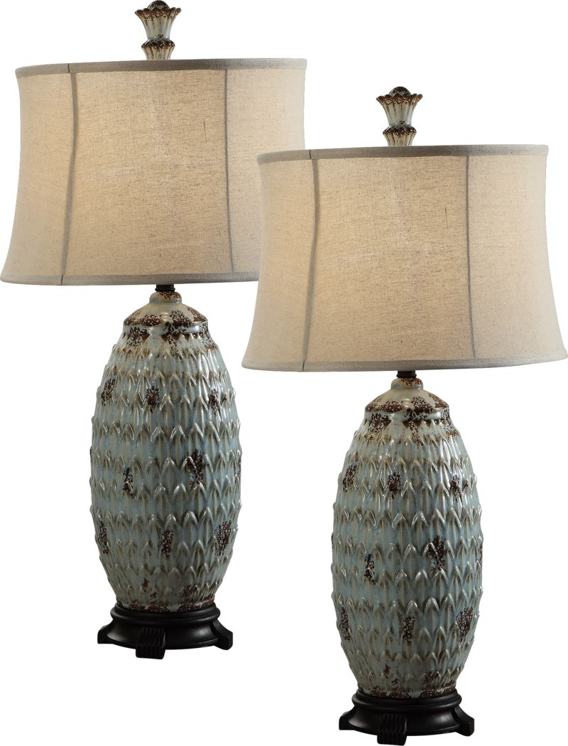Harrow Spring Blue Set of 2 Lamps
