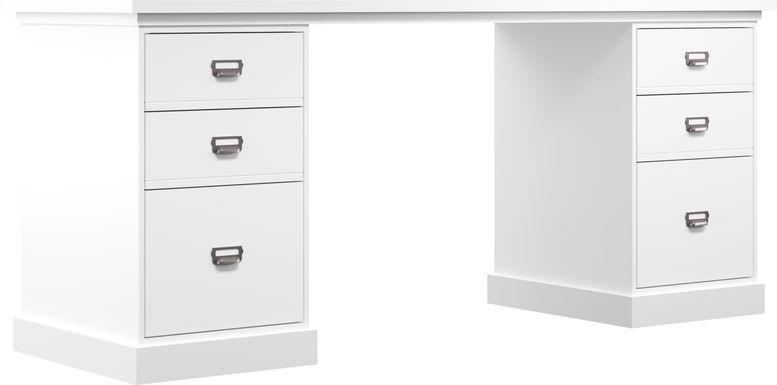 Harview White Desk