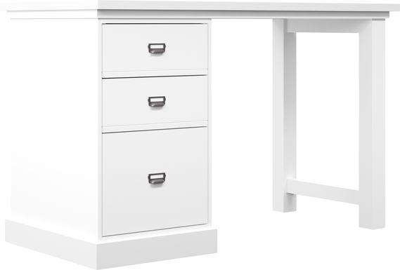 Harview White Small Desk