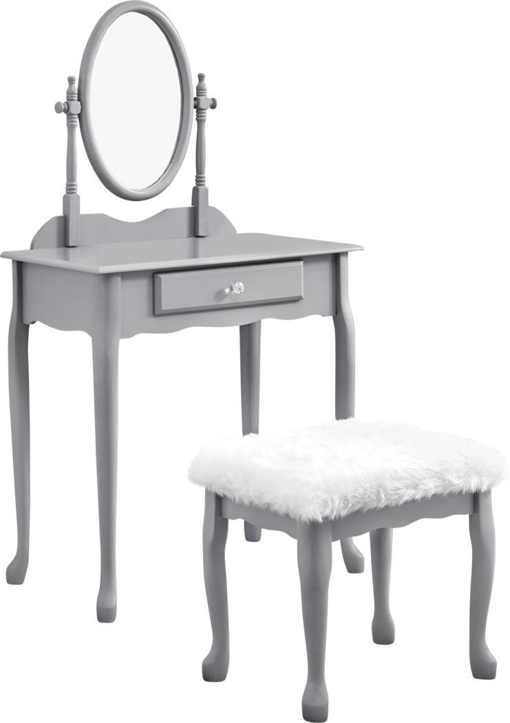 Hassock Gray Vanity Set