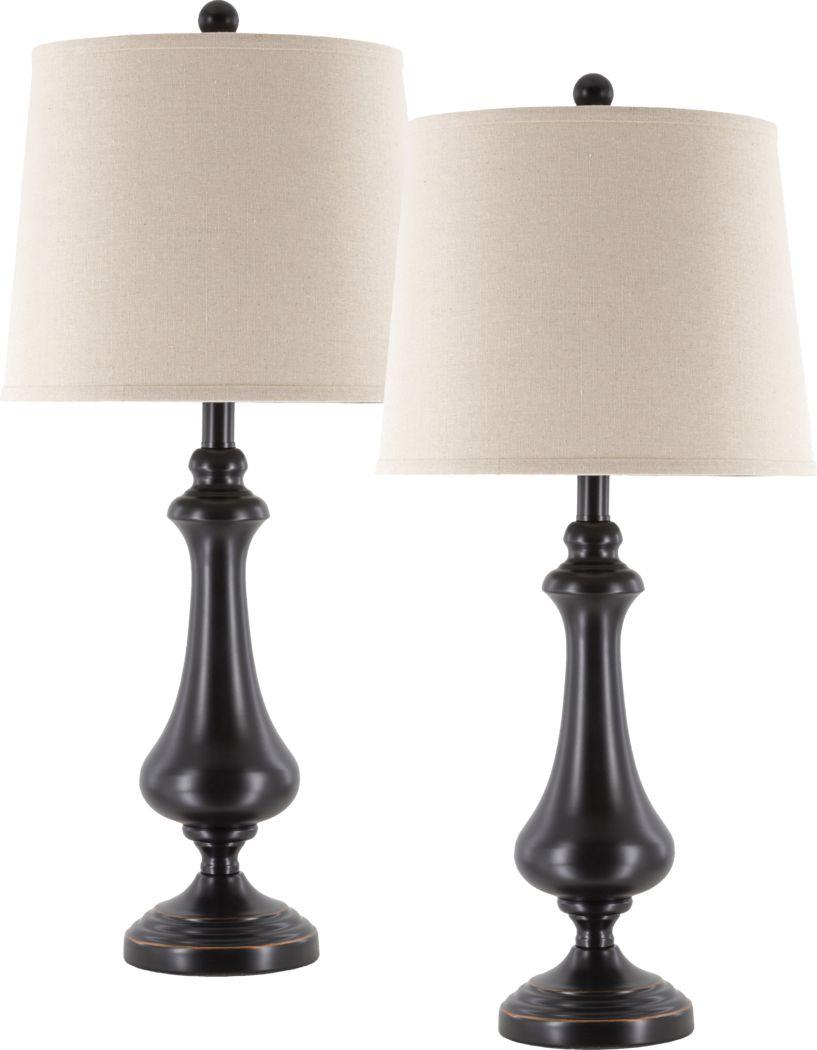Hatch Hill Bronze Lamp, Set of 2