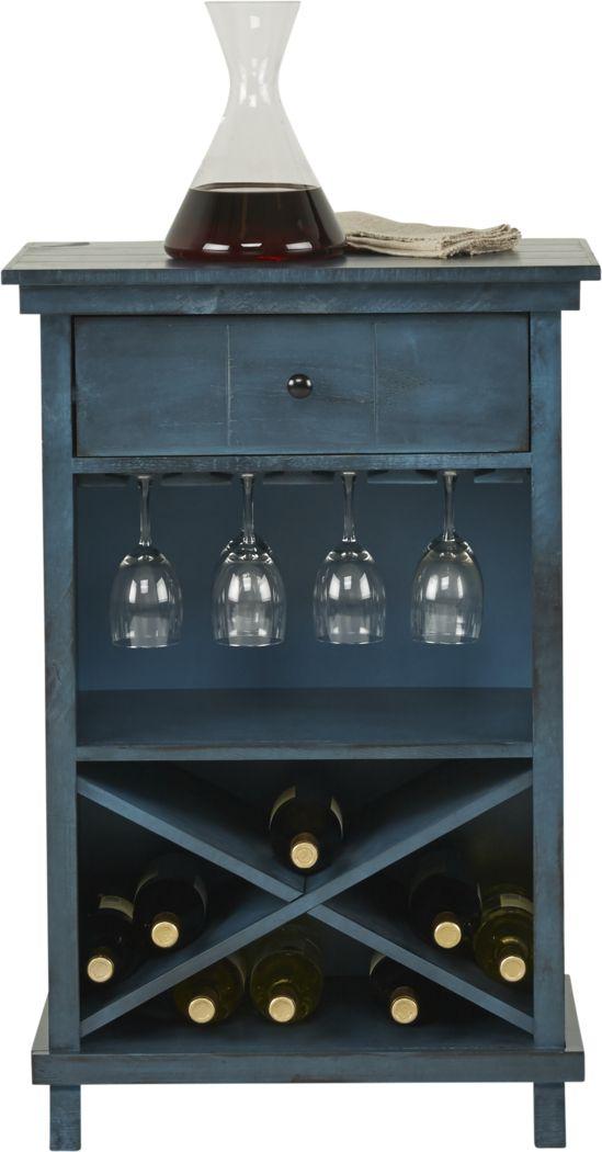Havenwood Blue Wine Cabinet