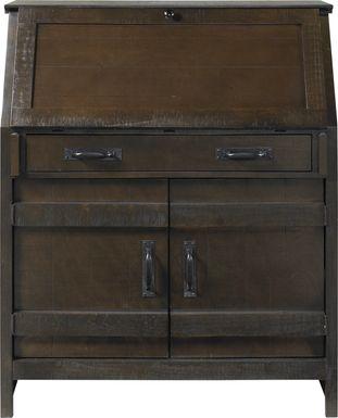Havenwood Brown Drop Lid Desk