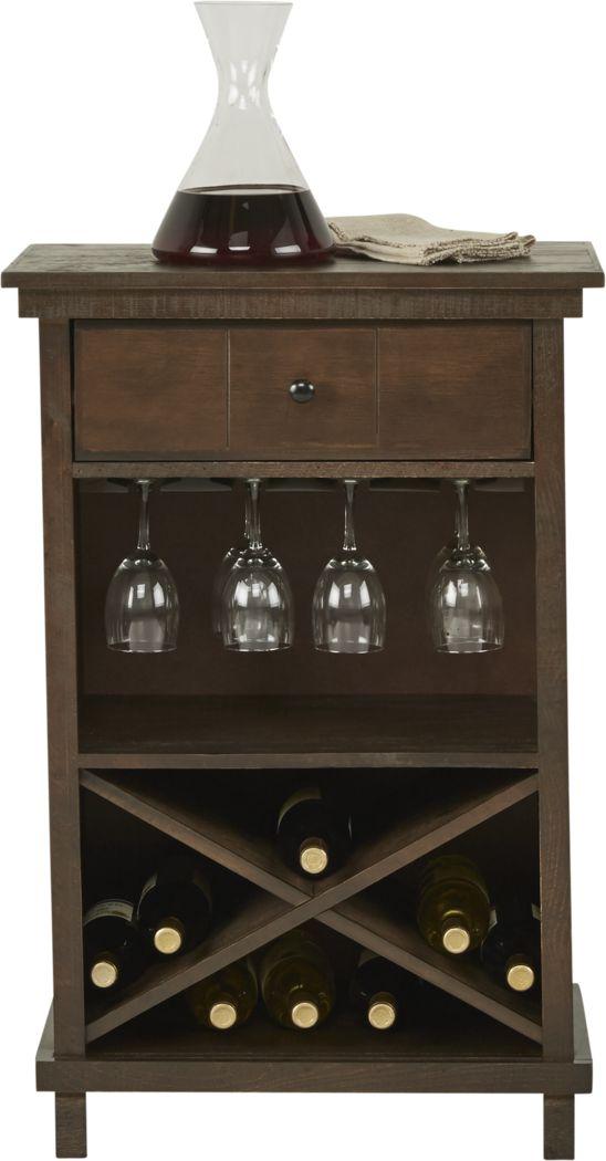 Havenwood Brown Wine Cabinet