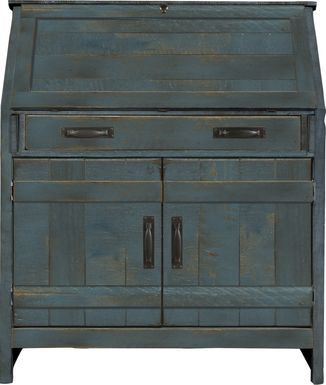 Havenwood Denim Drop Lid Desk