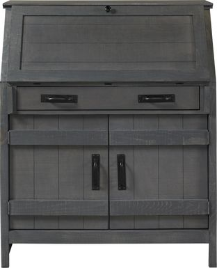 Havenwood Gray Drop Lid Desk