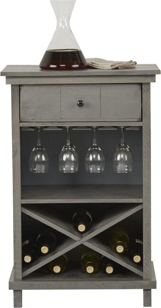 Havenwood Gray Wine Cabinet