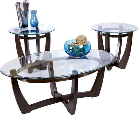 Haverhill Walnut 3 Pc Table Set