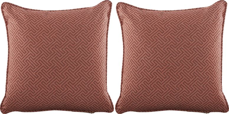 Havermont Pomegranate Indoor/Outdoor Accent Pillow, Set of Two