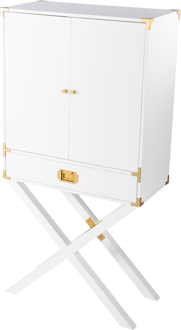 Haverstock White Bar Cabinet