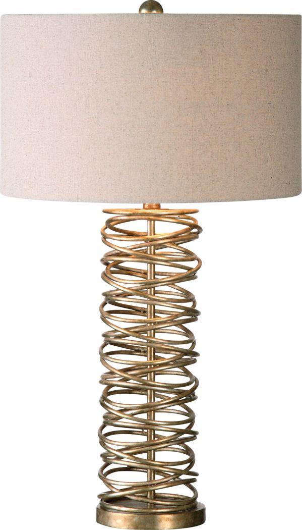 Hawkeye Place Champagne Lamp