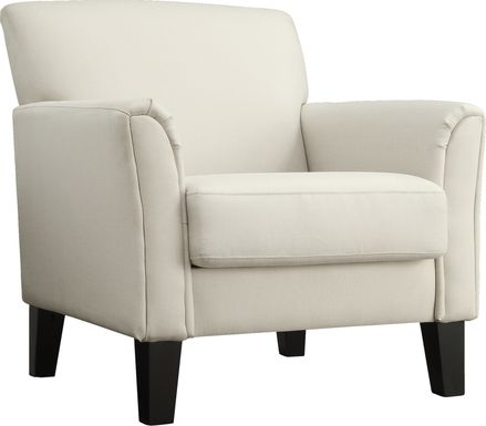 Hawley White Accent Chair