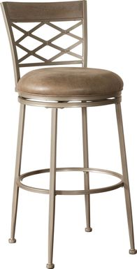 Haxton Pewter Swivel Counter Height Stool