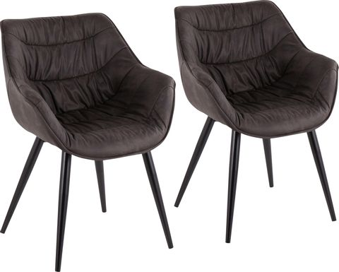 Haycort Black Accent Chair, Set of 2