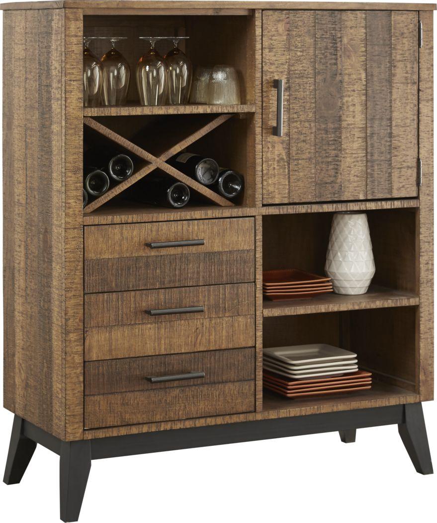 Hazelnut Lodge Wheat Cabinet