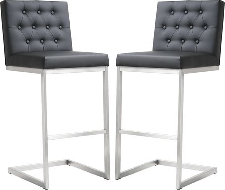 Helsinki Black Barstools (Set of 2)